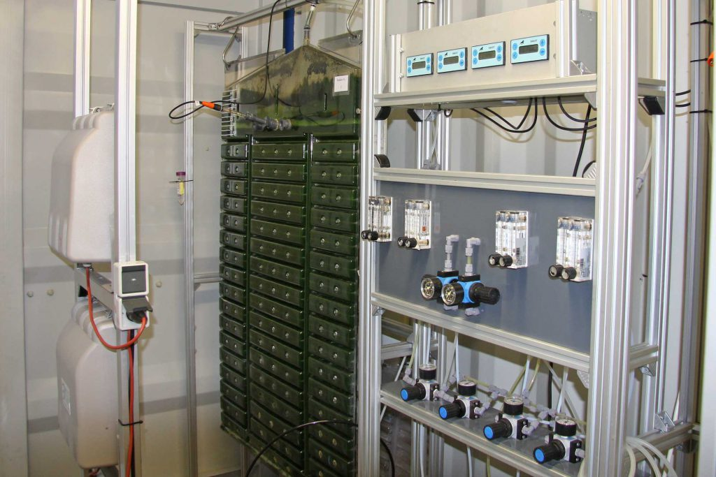 Microalgae cultivation at laboratory scale Flat Panel Reactors in Hamburg-Reitbrook
